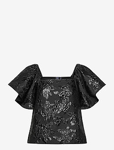 Bree Top - blouses med korte mouwen - black