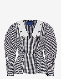 Bobbi Blouse - blouses med lange mouwen - black