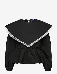 CarlaRS Blouse - bluzki z długimi rękawami - black