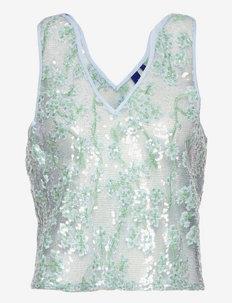 Gertrud RS Top - ermeløse bluser - silver blue