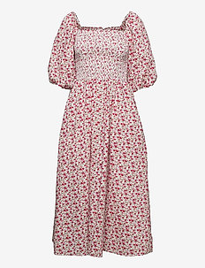 EbonyRS Dress - midi dresses - red
