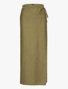 Saffy RS Wrap Skirt - kääri hameet - light olive