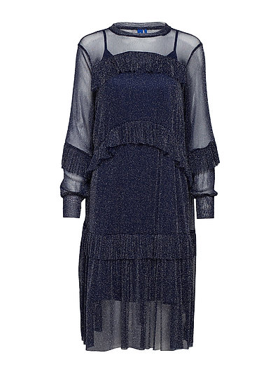 Katelyn dress - NAVY SILVER