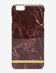 Red Marble Glossy Iphone 6PLUS - mobiele telefoon hoesjes - red marble