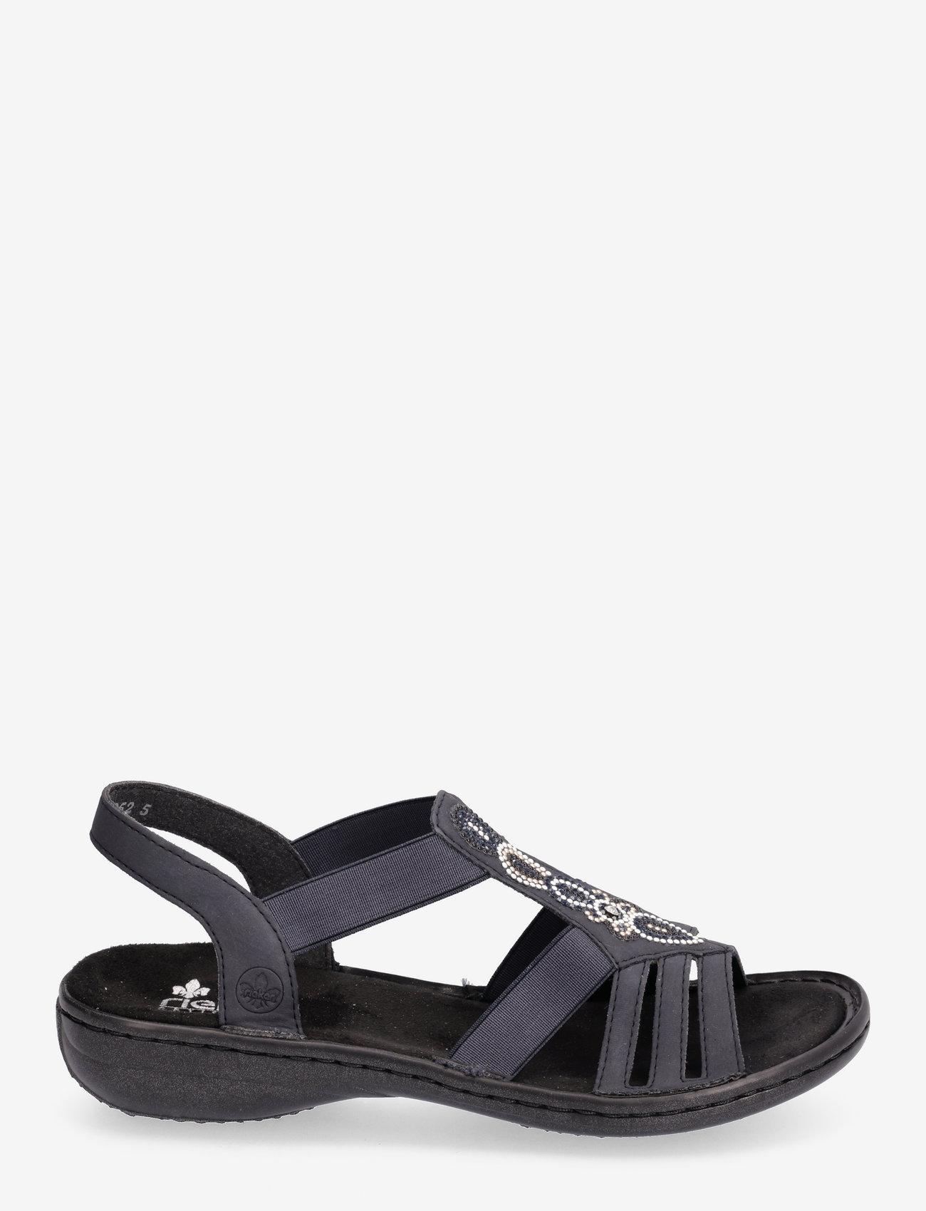 Rieker - 60836-14 - flat sandals - blue