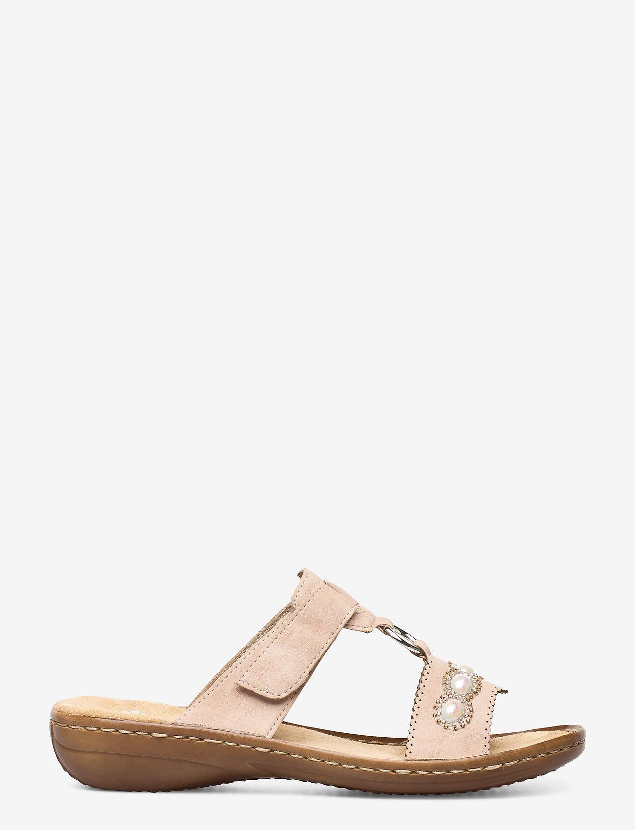 Rieker - 608A3-31 - flat sandals - rosa