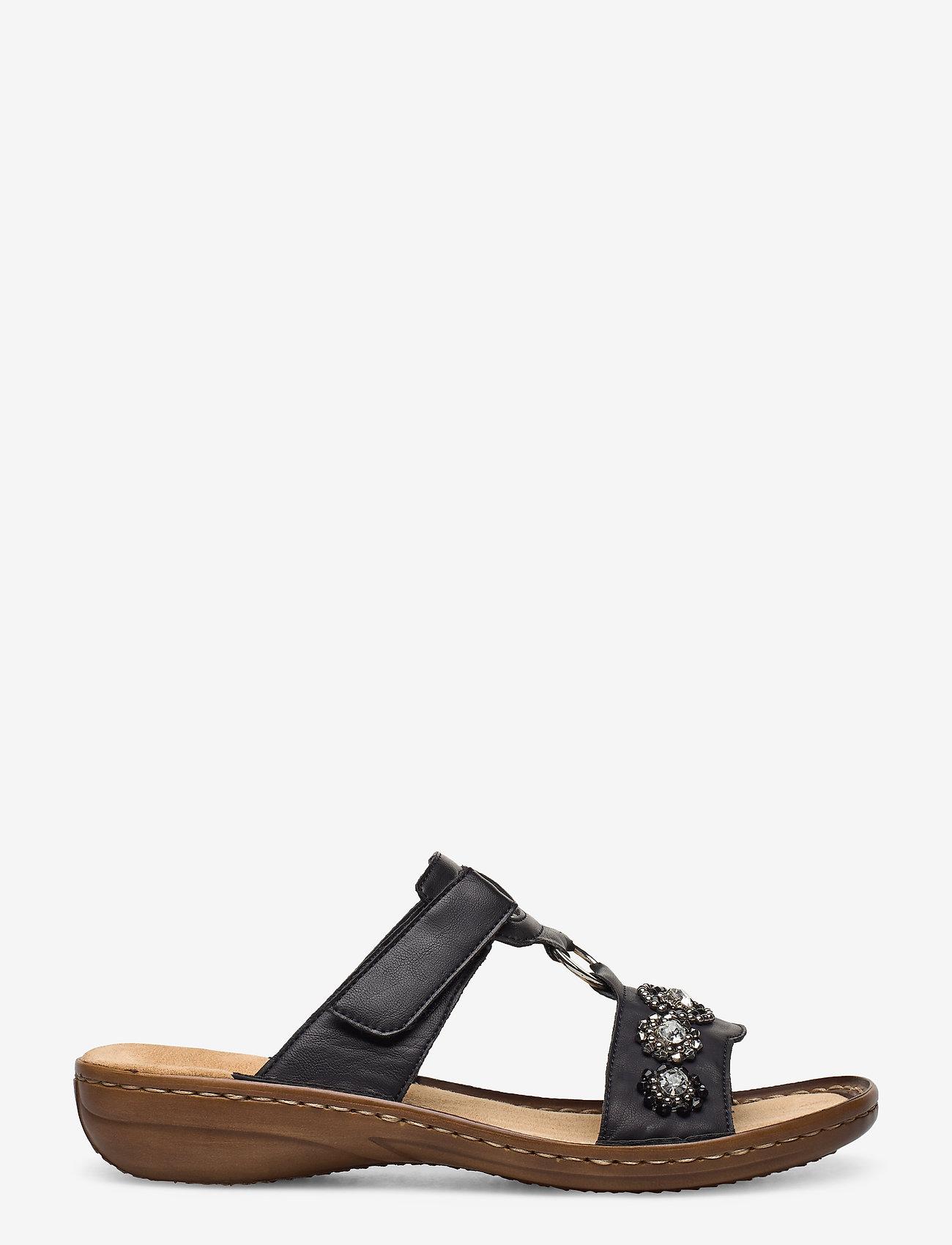Rieker - 608A9-14 - flat sandals - blue