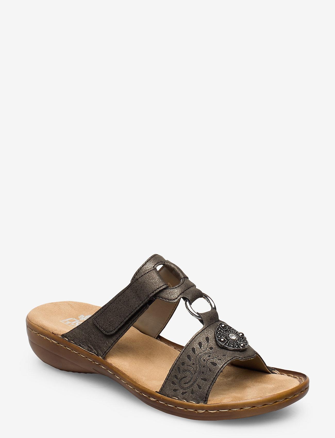 Rieker - 608K1-45 - flat sandals - grey