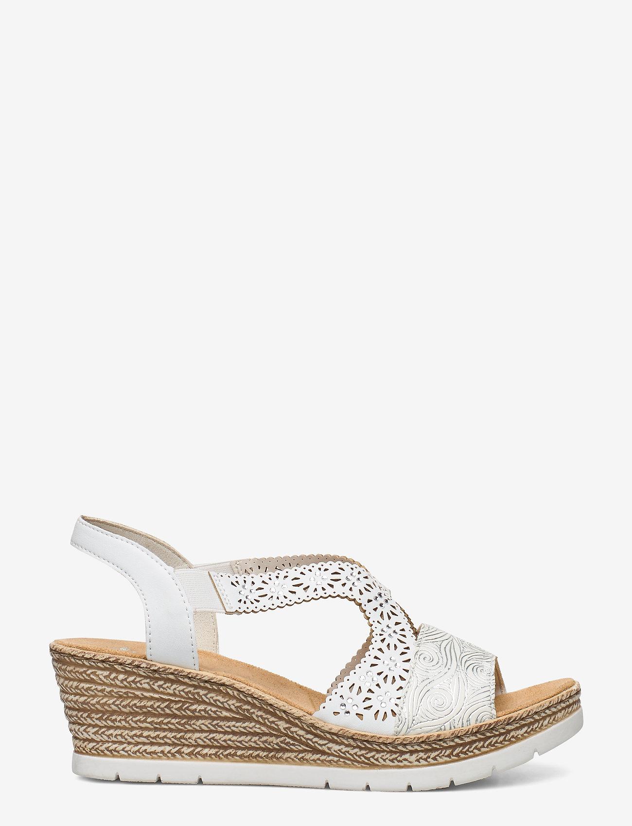 Rieker - 61916-80 - høyhælte sandaler - weiss