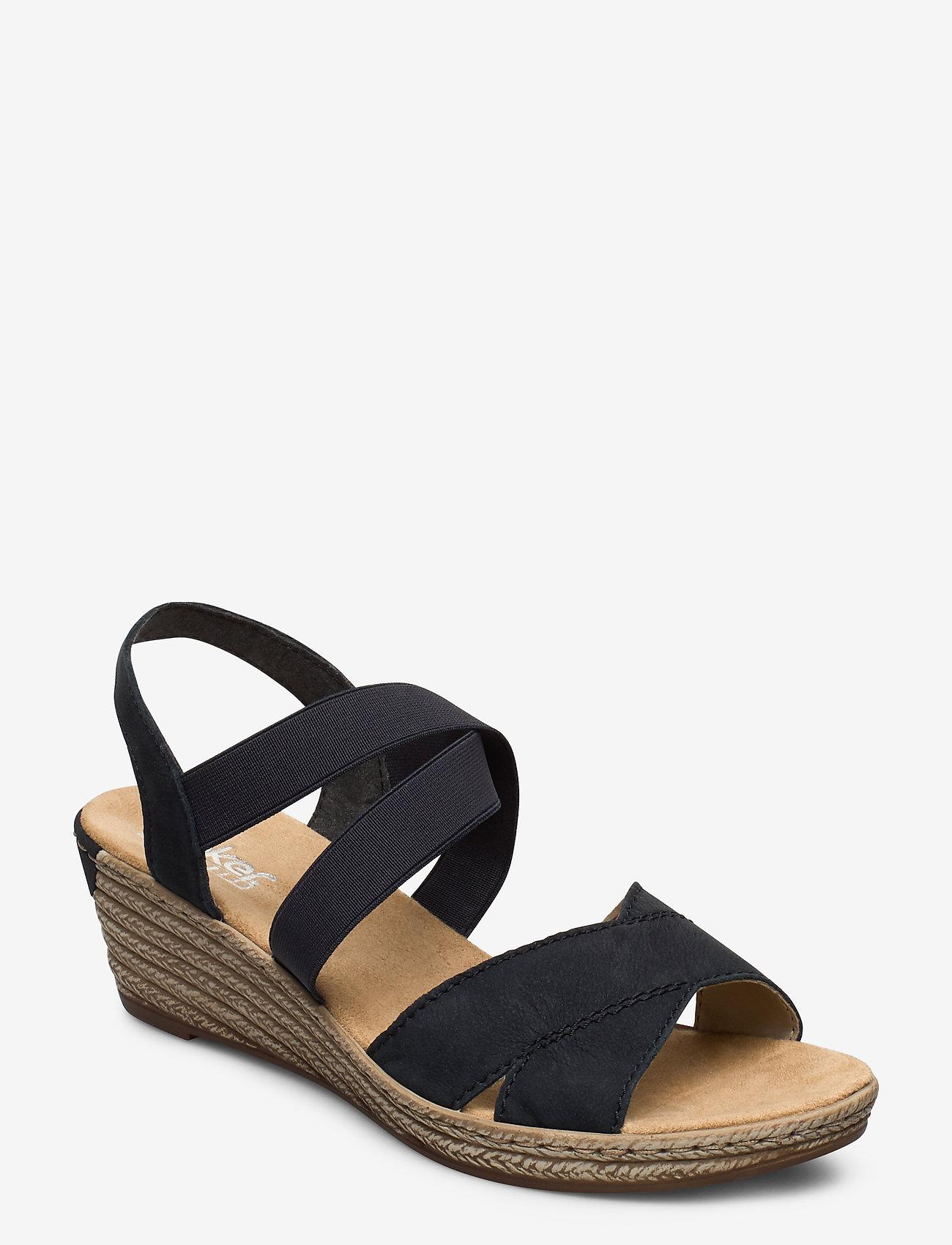 Rieker - 62412-15 - heeled espadrilles - blue