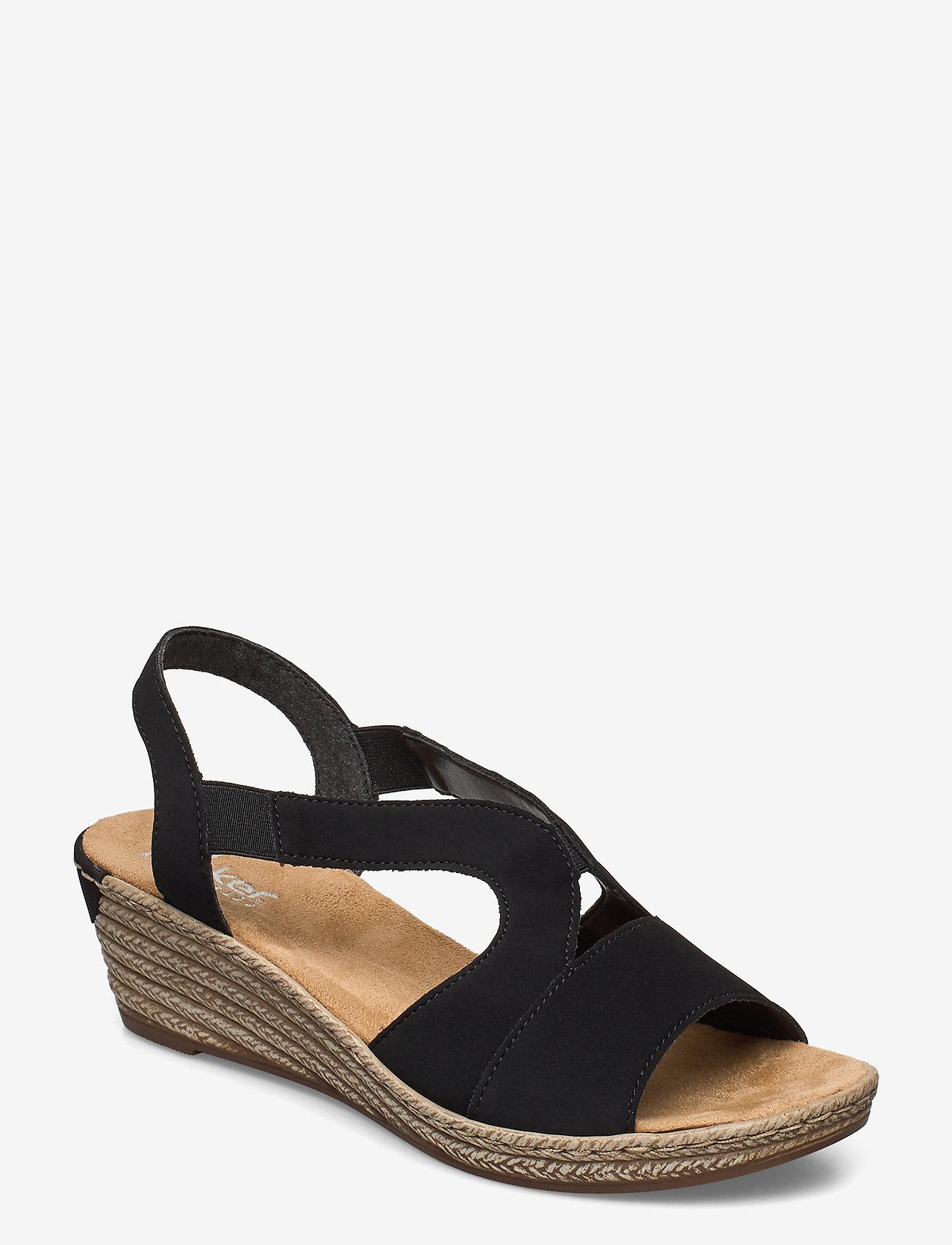 Rieker - 62429-00 - heeled espadrilles - black