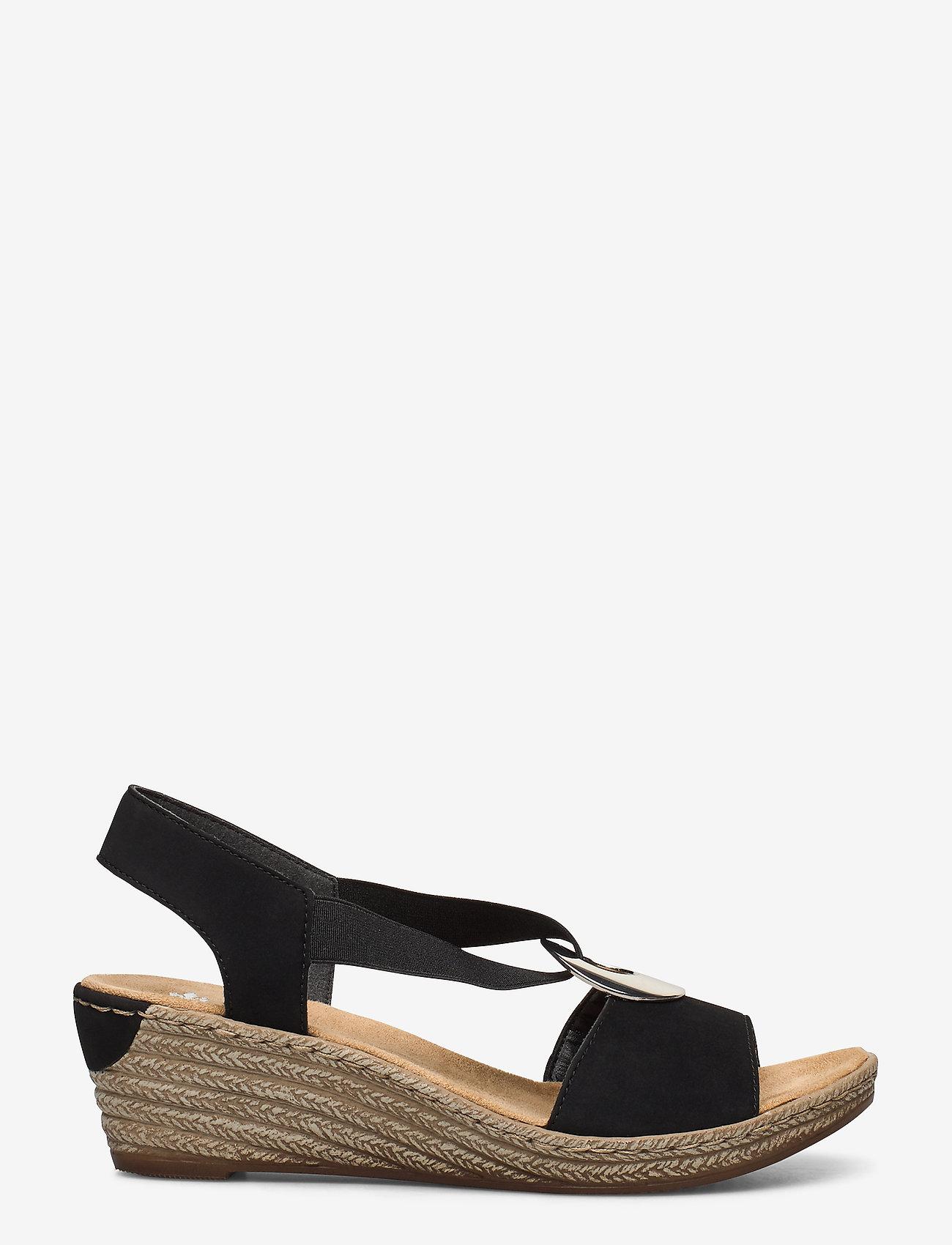 Rieker - 624H6-00 - heeled espadrilles - black