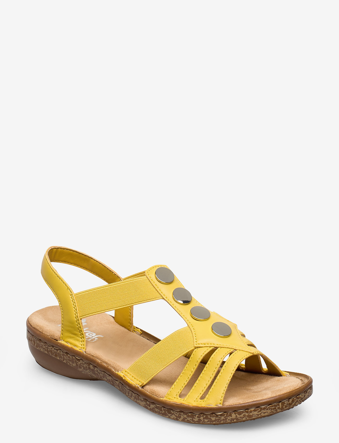 Rieker - 62831-00 - flat sandals - yellow