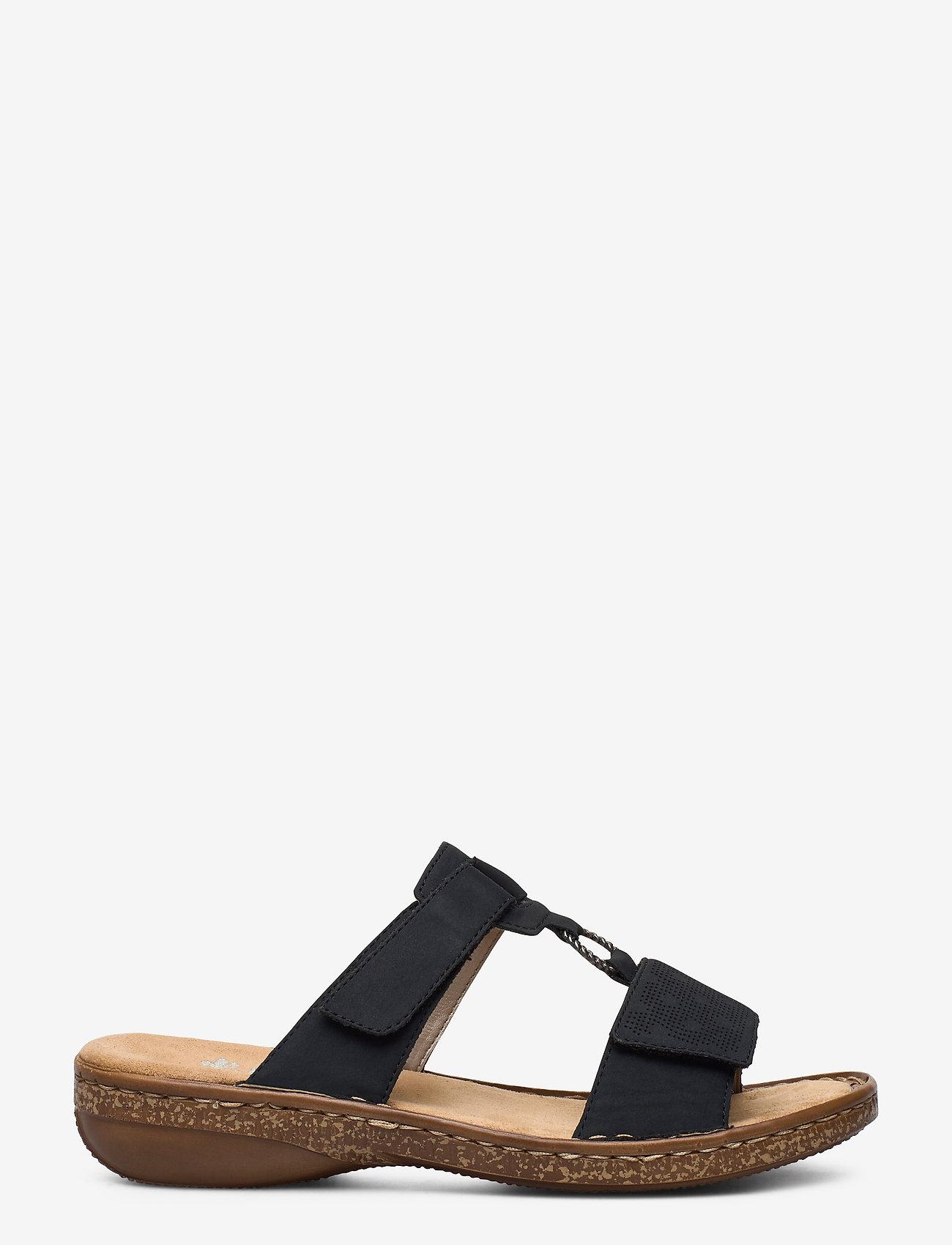 Rieker - 62885-14 - flat sandals - blue