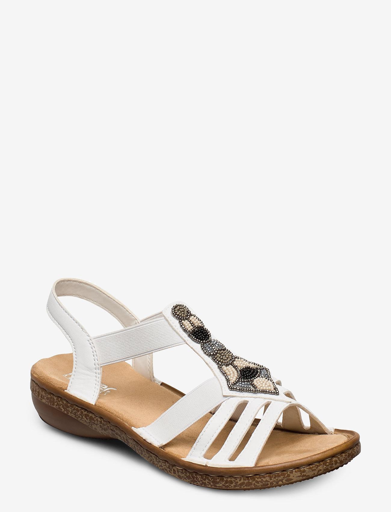 Rieker - 628G5-80 - flat sandals - weiss