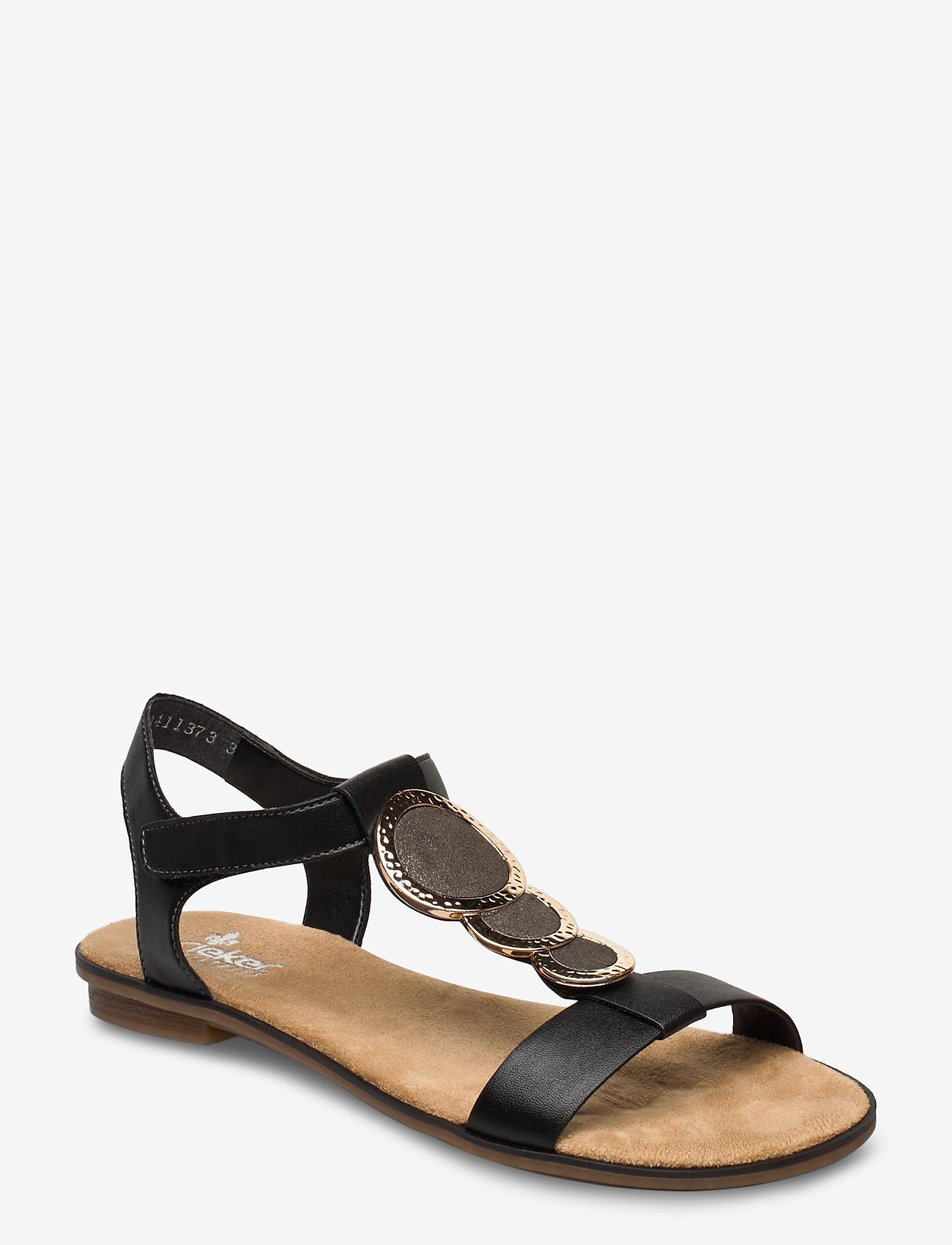 Rieker - 64278-00 - flat sandals - black combination