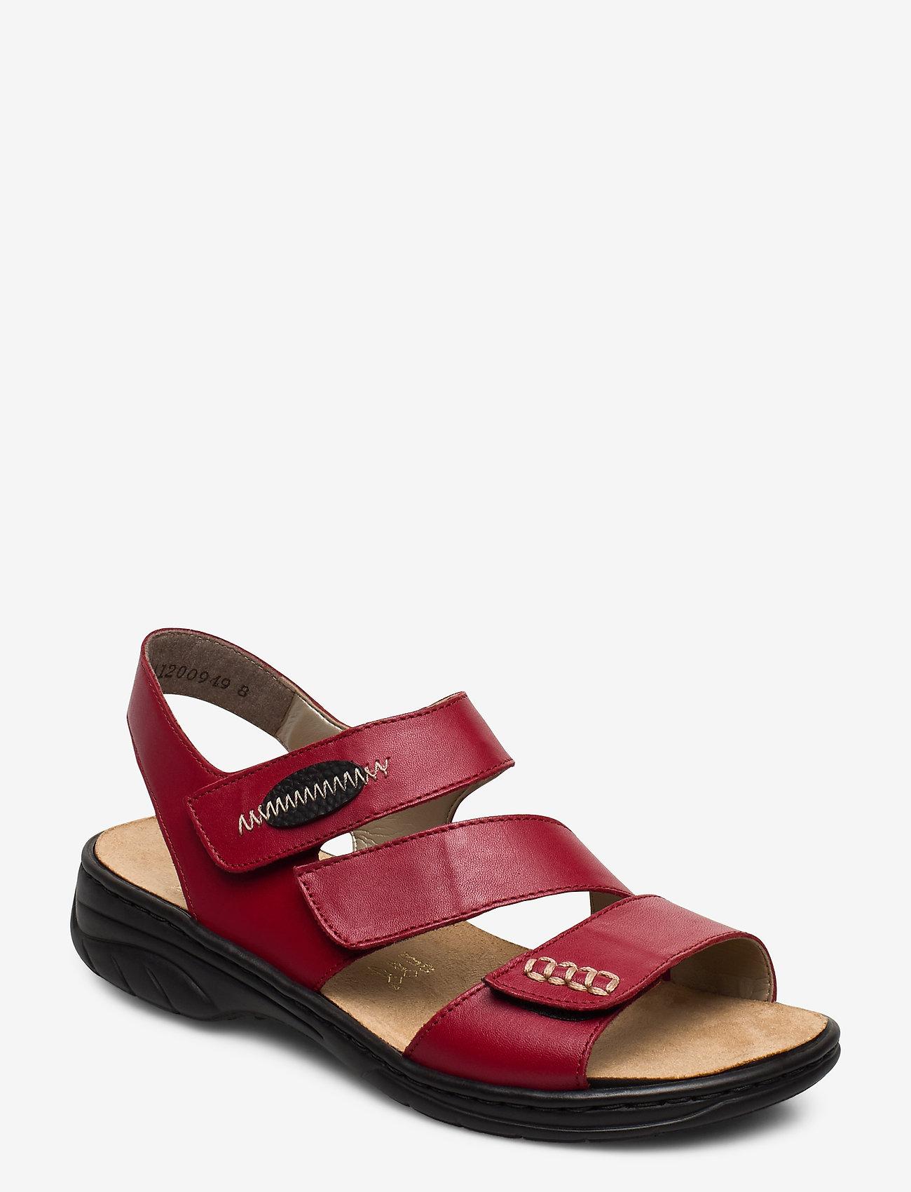Rieker - 64573-00 - flat sandals - red