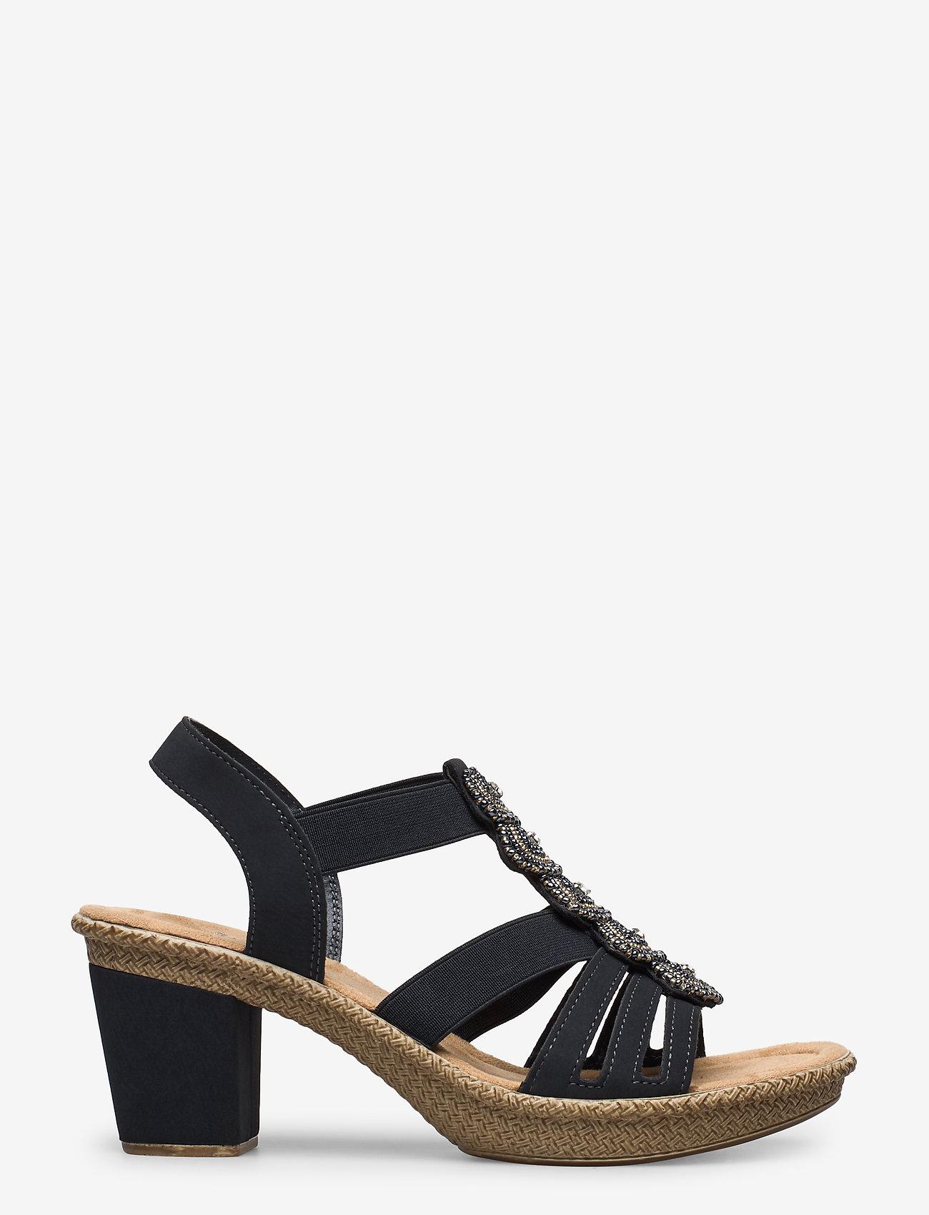Rieker - 665G8-14 - heeled sandals - blue