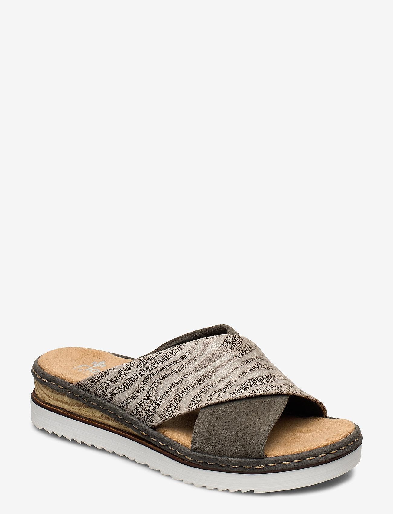 Rieker - 67994-54 - flat sandals - green combination