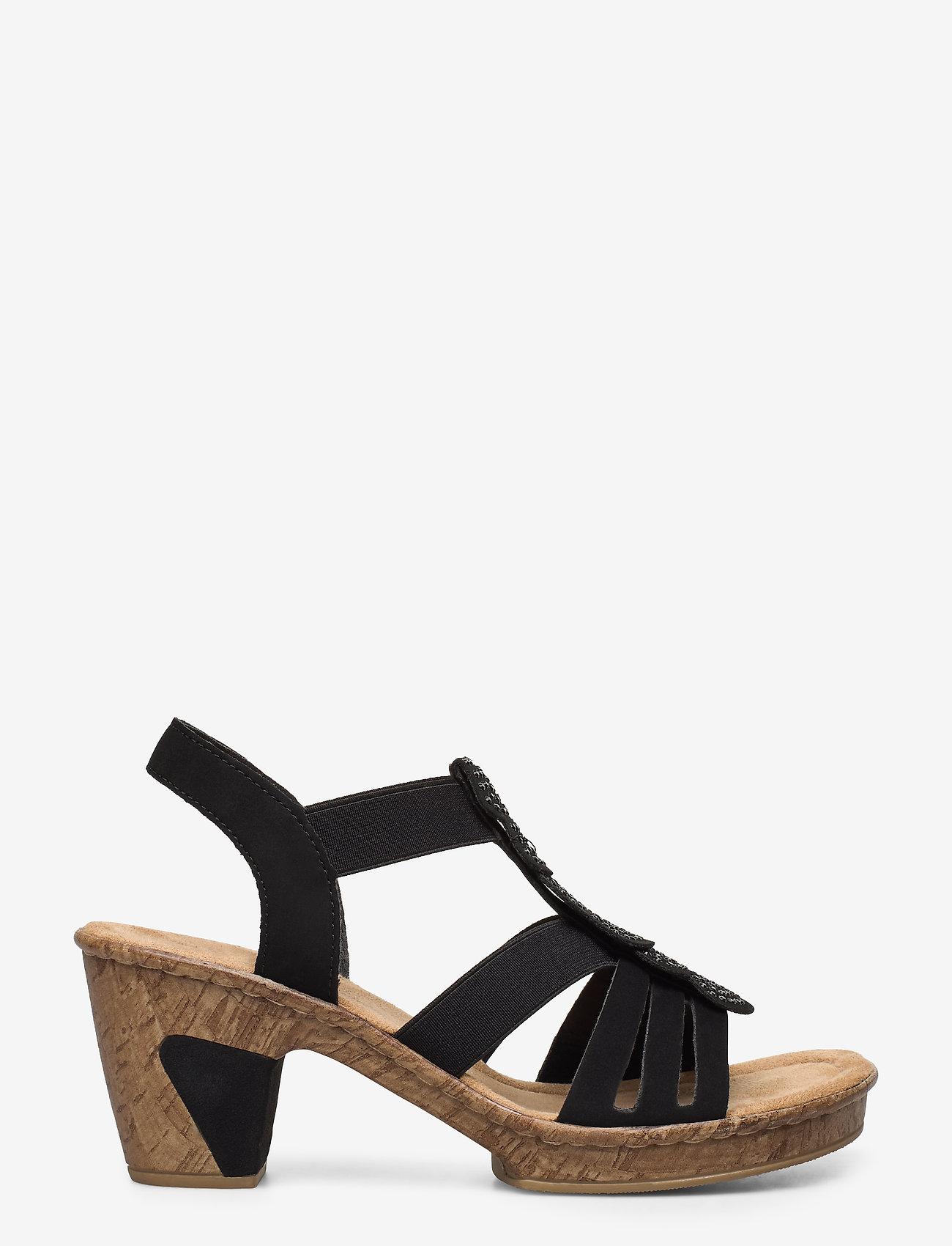 Rieker - 69702-00 - heeled sandals - black