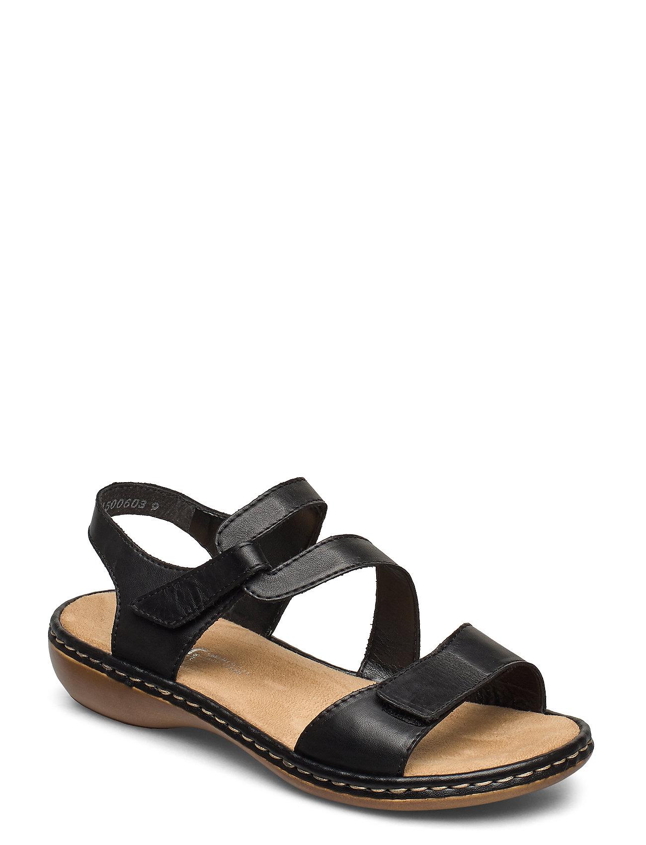 Image of 659c7-00 Shoes Summer Shoes Flat Sandals Sort Rieker (3493868113)