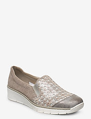 Rieker - 537W4-40 - slip-on sneakers - grey combination - 0