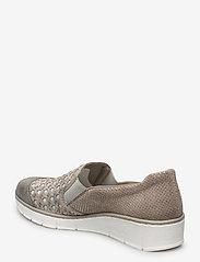 Rieker - 537W4-40 - slip-on sneakers - grey combination - 2
