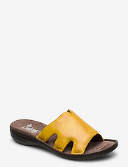 Rieker - 60824-00 - flat sandals - yellow - 0