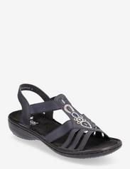 Rieker - 60836-14 - flat sandals - blue - 0
