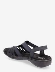 Rieker - 60836-14 - flat sandals - blue - 2