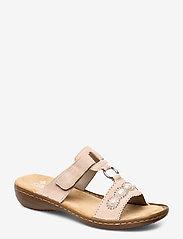 Rieker - 608A3-31 - flat sandals - rosa - 0