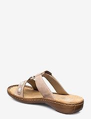 Rieker - 608A3-31 - flat sandals - rosa - 2