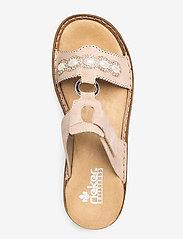 Rieker - 608A3-31 - flat sandals - rosa - 3