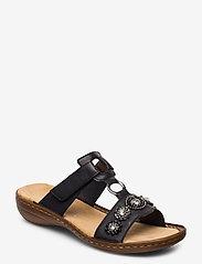 Rieker - 608A9-14 - flat sandals - blue - 0