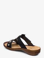Rieker - 608A9-14 - flat sandals - blue - 2