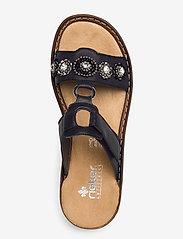 Rieker - 608A9-14 - flat sandals - blue - 3