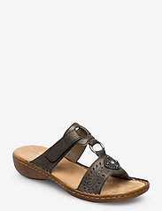 Rieker - 608K1-45 - flat sandals - grey - 0
