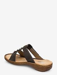 Rieker - 608K1-45 - flat sandals - grey - 2