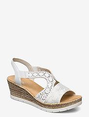 Rieker - 61916-80 - høyhælte sandaler - weiss - 0