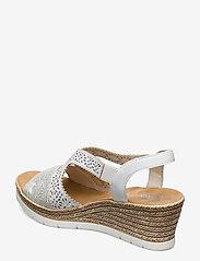 Rieker - 61916-80 - høyhælte sandaler - weiss - 2