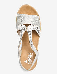 Rieker - 61916-80 - høyhælte sandaler - weiss - 3