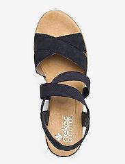 Rieker - 62412-15 - heeled espadrilles - blue - 3