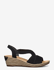 Rieker - 62429-00 - heeled espadrilles - black - 1