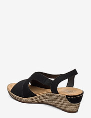 Rieker - 62429-00 - heeled espadrilles - black - 2