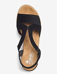 Rieker - 62429-00 - heeled espadrilles - black - 3
