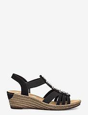 Rieker - 624B4-00 - heeled espadrilles - black - 1