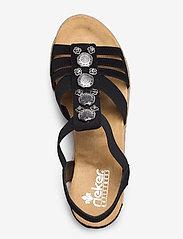 Rieker - 624B4-00 - heeled espadrilles - black - 3