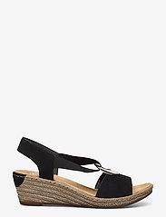 Rieker - 624H6-00 - heeled espadrilles - black - 1