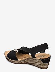 Rieker - 624H6-00 - heeled espadrilles - black - 2