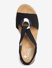 Rieker - 624H6-00 - heeled espadrilles - black - 3